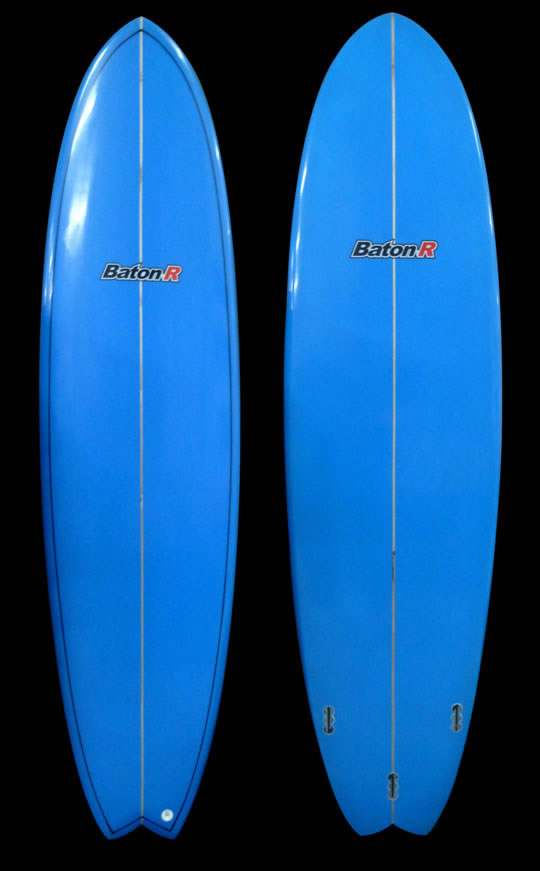 blue clearance hybrid fish surfboard