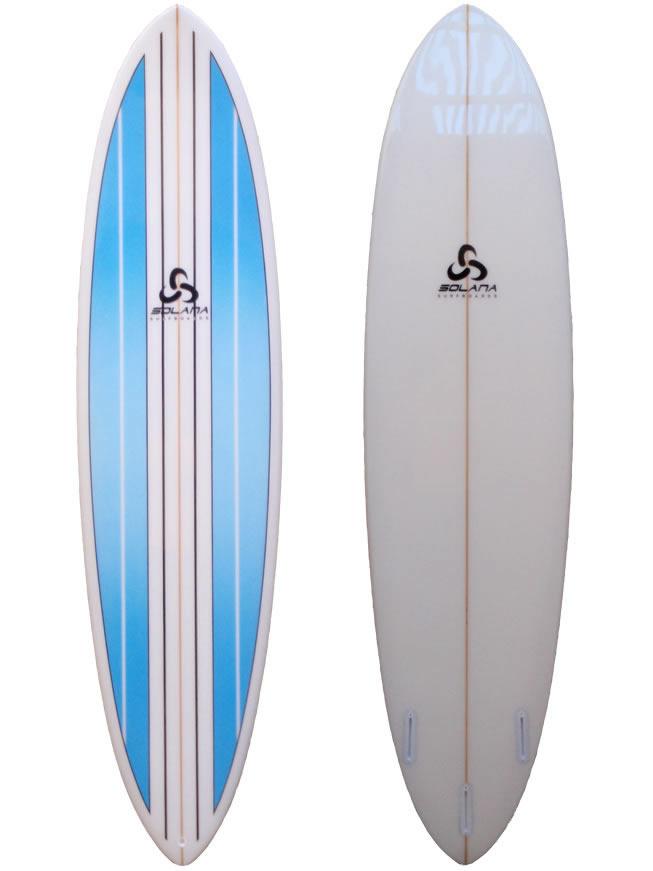 Blue pinline hybrid funboard surfboard for Hybrid fish surfboard