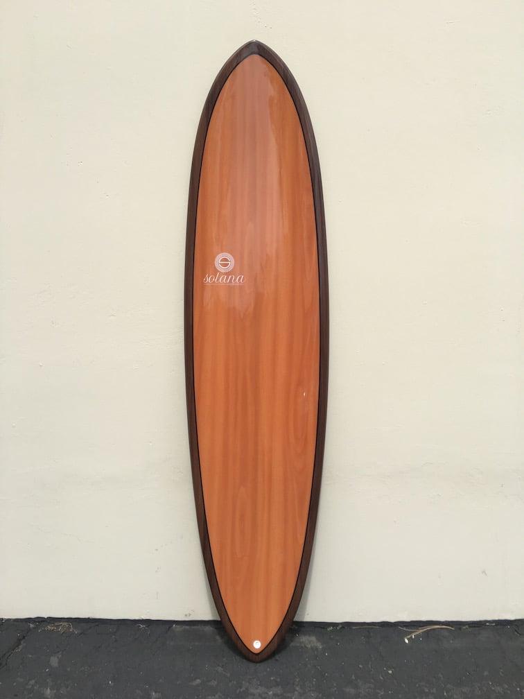 Wood grain hybrid funboard surfboard for Hybrid fish surfboard