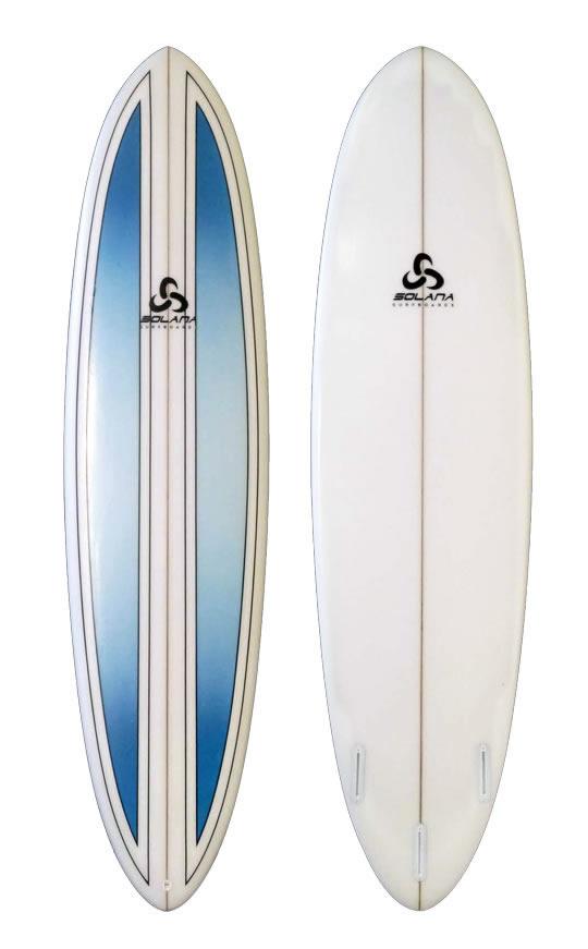 Dark blue pinline hybrid funboard surfboard for Hybrid fish surfboard
